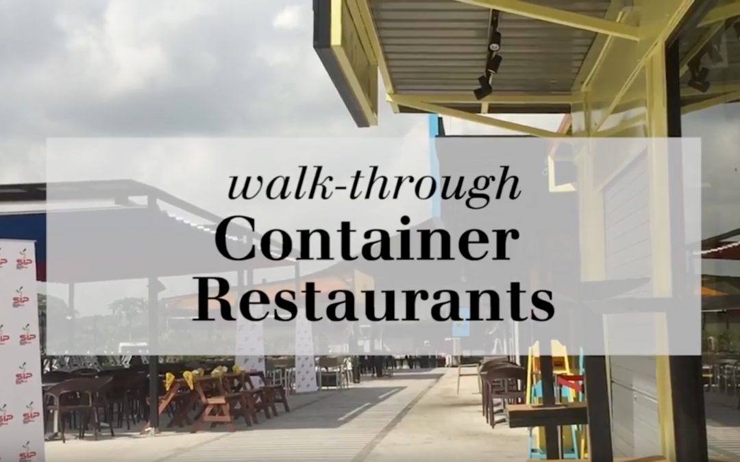 Home & Decor visited the container restaurants at SEED@Social Innovation Park!